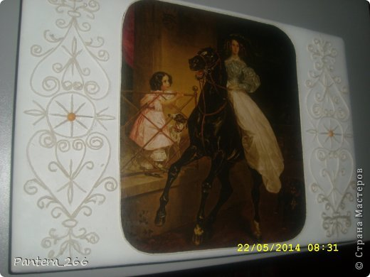 Декор предметов Мастер-класс Аппликация из скрученных жгутиков Декупаж Декупаж ноутбука в сочетании с техникой Пейп-арт Бумага Клей Краска Салфетки фото 11