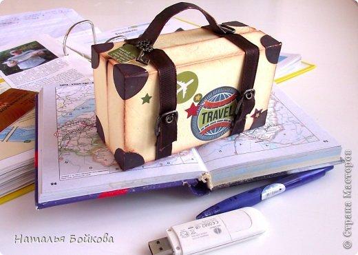 Небольшой альбомчик для путешествий сделан в виде чемодана. фото 1