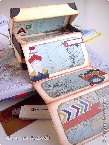 Небольшой альбомчик для путешествий сделан в виде чемодана. фото 2