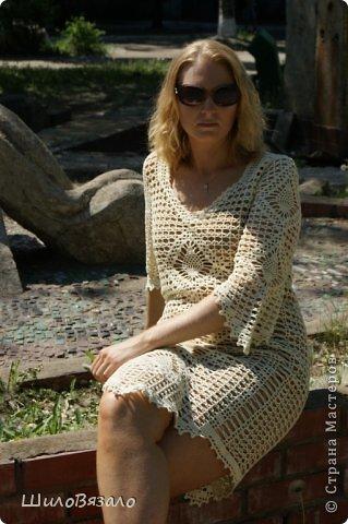 Вот такое платье! Легкое и очаровательное! Схема из Журнала мод 2008 Автор модели Анна Вититина. Пряжа Орион от Вита Котон (50/50 хлопок с вискозой) расход 450 гр (9 моточков) крючок 2,5. фото 5