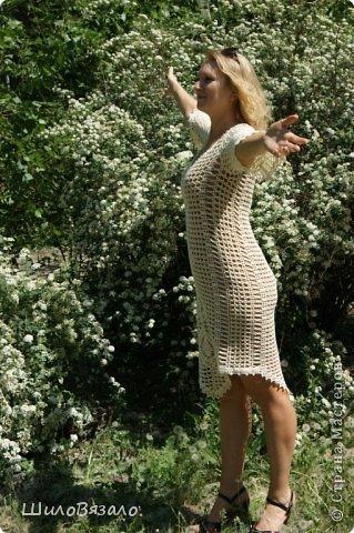 Вот такое платье! Легкое и очаровательное! Схема из Журнала мод 2008 Автор модели Анна Вититина. Пряжа Орион от Вита Котон (50/50 хлопок с вискозой) расход 450 гр (9 моточков) крючок 2,5. фото 6
