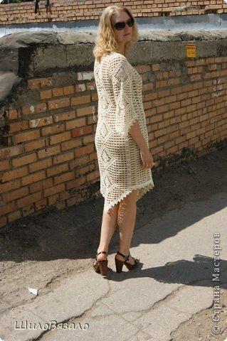 Вот такое платье! Легкое и очаровательное! Схема из Журнала мод 2008 Автор модели Анна Вититина. Пряжа Орион от Вита Котон (50/50 хлопок с вискозой) расход 450 гр (9 моточков) крючок 2,5. фото 2