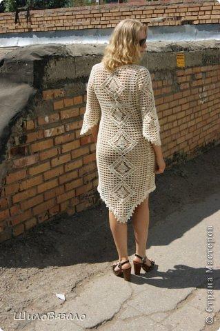 Вот такое платье! Легкое и очаровательное! Схема из Журнала мод 2008 Автор модели Анна Вититина. Пряжа Орион от Вита Котон (50/50 хлопок с вискозой) расход 450 гр (9 моточков) крючок 2,5. фото 3