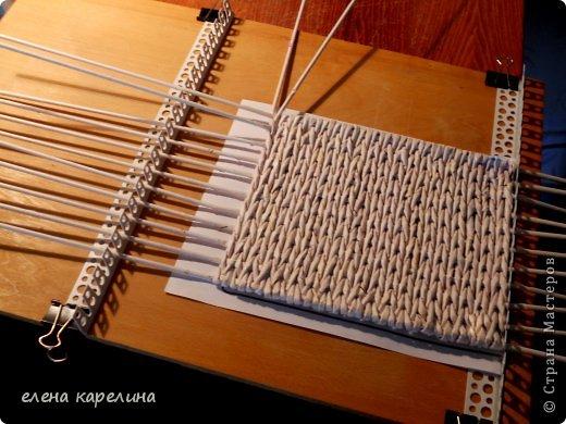 Как сделать станок для плетения из газетных трубочек 158
