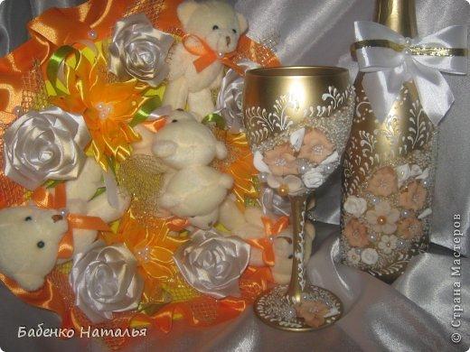 Свадебное и плюшевые букеты. фото 14