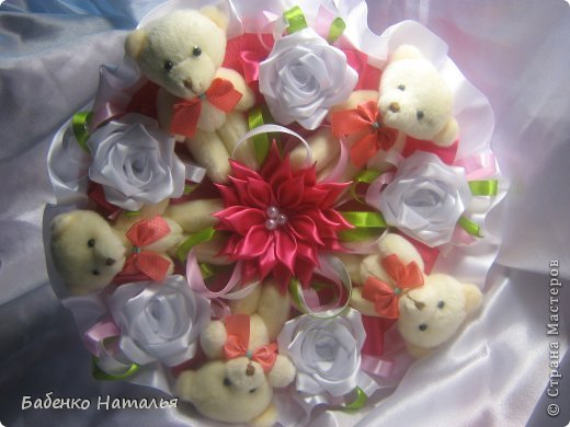 Свадебное и плюшевые букеты. фото 16
