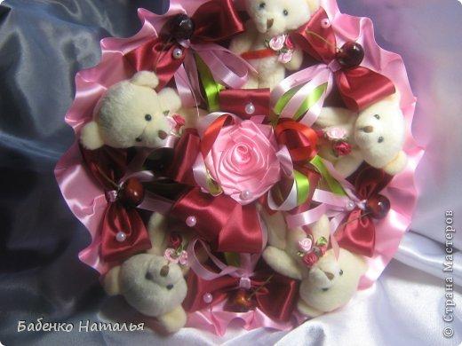 Свадебное и плюшевые букеты. фото 19
