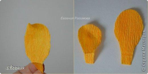 Мастер-класс Свит-дизайн Бумагопластика Купальница огоньки МК Бумага гофрированная фото 7