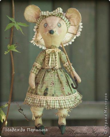 Мышь Шуша - обладает не только обворожительной внешностью, но ещё и имеет добрый характер и скромный нрав. Рост стоя - 31см, сидя - 23см   фото 3