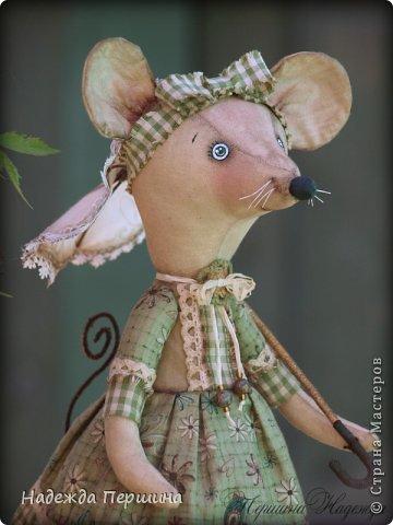 Мышь Шуша - обладает не только обворожительной внешностью, но ещё и имеет добрый характер и скромный нрав. Рост стоя - 31см, сидя - 23см   фото 5