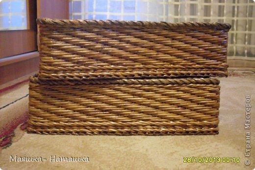 Ну и еще несколько плетушек.  Это наборчик из двух одинаковых коробочек. фото 1