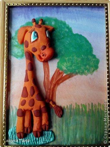 Здравствуйте!!! Нашла в интернете классную картинку с жирафом и решила слепить жирафёнка.