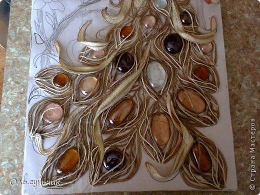 Картина панно рисунок Мастер-класс Моделирование конструирование Филигранный павлин МК Шпагат фото 17