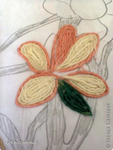 Картина панно рисунок Мастер-класс Моделирование конструирование Филигранный павлин МК Шпагат фото 23