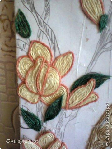 Картина панно рисунок Мастер-класс Моделирование конструирование Филигранный павлин МК Шпагат фото 31