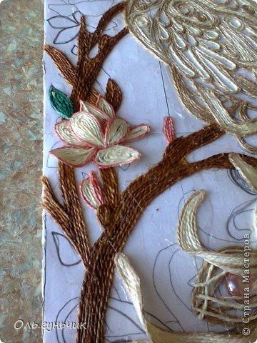 Картина панно рисунок Мастер-класс Моделирование конструирование Филигранный павлин МК Шпагат фото 36