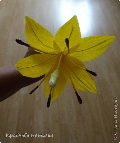Всем здравствуйте! Продолжаю учиться кристальным цветам... На прошедшей неделе дома появилась вот такая вазочка с жёлтыми лилиями.  фото 6