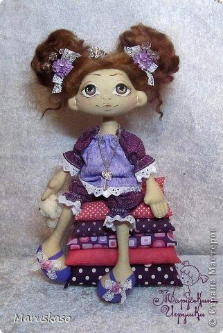 Куклы Мастер-класс Шитьё Мастер-класс Принцесса на горошине или как я делаю своих куколок Краска Ткань Шерсть фото 3