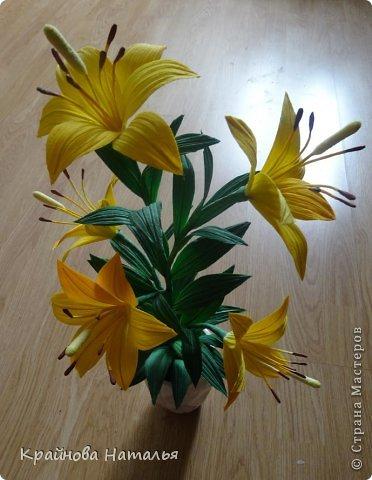 Всем здравствуйте! Продолжаю учиться кристальным цветам... На прошедшей неделе дома появилась вот такая вазочка с жёлтыми лилиями.  фото 9