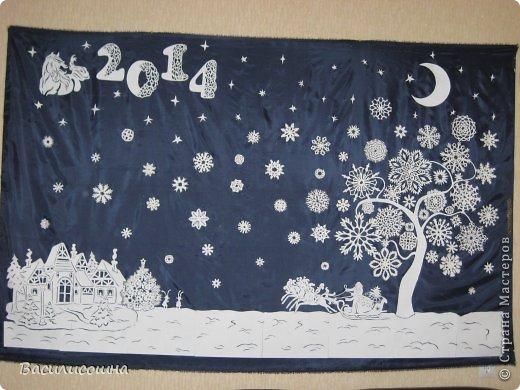 Новогоднее панно на стену своими руками фото
