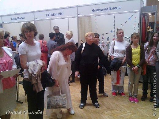 Доброй ночи, дорогие мои! Вот и сделала я фоторепортаж к нашей выставке! Выставке нашей замечательной страны! Талантливые рукодельницы приложили много усилий не только, чтобы поучаствовать в конкурсе, а еще и доставить свои работы в Санкт-Петербург!  Общий вид, который не может не покорить своей яркостью и изяществом... фото 28
