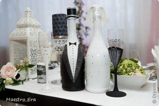 Здравствуйте! представляю Вашему вниманию черно-белый набор для свадьбы, оформленной в черно-белой стилистике. фото 1