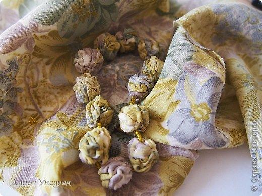 Мастер-класс Шитьё Текстильные браслеты Ткань фото 12