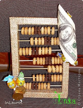 Добрый день, мастерицы! Сладкие счеты сделала на день рождения бухгалтеру. Огромное спасибо за идею   аленушка и димуля (http://stranamasterov.ru/node/258850) там есть подробный МК. фото 1