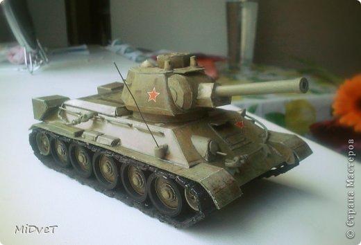 Танк Т-34-76 Бумага Картон