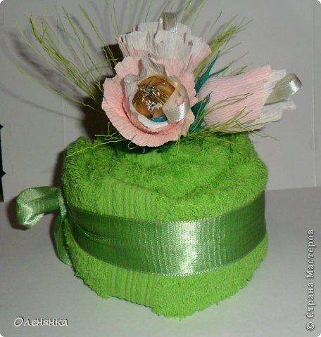 добрый день жители СМ .сегодня я к вам  с полотенечным тортиком .фото делалось второпях как всегда так что простите за фон . фото 10