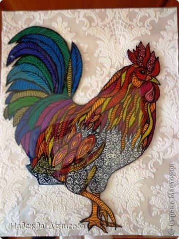 Картина панно рисунок Мастер-класс Аппликация из пластилина + обратная Красивая птица Пластилин Стекло фото 31