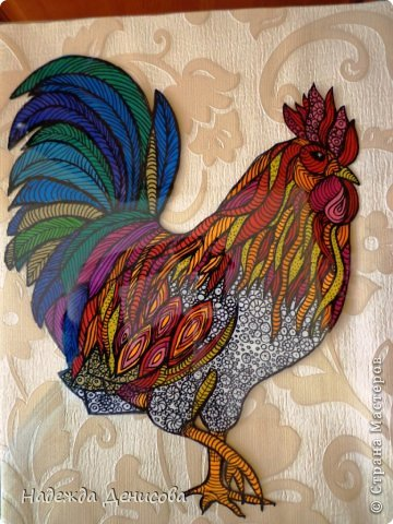 Картина панно рисунок Мастер-класс Аппликация из пластилина + обратная Красивая птица Пластилин Стекло фото 32