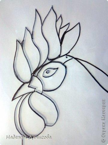 Картина панно рисунок Мастер-класс Аппликация из пластилина + обратная Красивая птица Пластилин Стекло фото 4