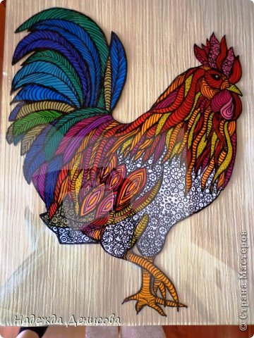 Картина панно рисунок Мастер-класс Аппликация из пластилина + обратная Красивая птица Пластилин Стекло фото 33