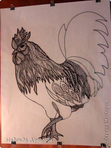 Картина панно рисунок Мастер-класс Аппликация из пластилина + обратная Красивая птица Пластилин Стекло фото 8