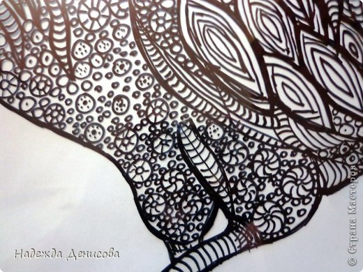 Картина панно рисунок Мастер-класс Аппликация из пластилина + обратная Красивая птица Пластилин Стекло фото 10