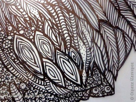 Картина панно рисунок Мастер-класс Аппликация из пластилина + обратная Красивая птица Пластилин Стекло фото 11