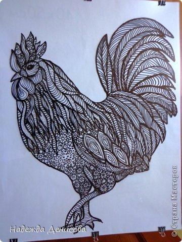 Картина панно рисунок Мастер-класс Аппликация из пластилина + обратная Красивая птица Пластилин Стекло фото 15