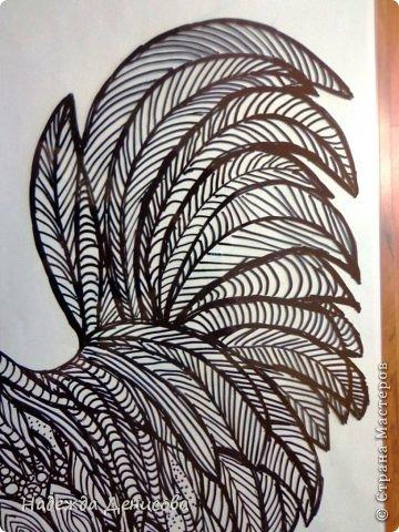 Картина панно рисунок Мастер-класс Аппликация из пластилина + обратная Красивая птица Пластилин Стекло фото 14