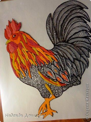 Картина панно рисунок Мастер-класс Аппликация из пластилина + обратная Красивая птица Пластилин Стекло фото 19