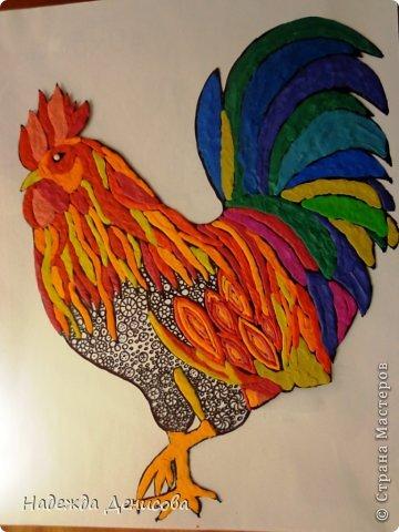 Картина панно рисунок Мастер-класс Аппликация из пластилина + обратная Красивая птица Пластилин Стекло фото 23