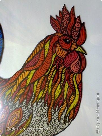 Картина панно рисунок Мастер-класс Аппликация из пластилина + обратная Красивая птица Пластилин Стекло фото 26