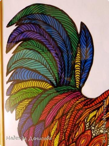 Картина панно рисунок Мастер-класс Аппликация из пластилина + обратная Красивая птица Пластилин Стекло фото 28