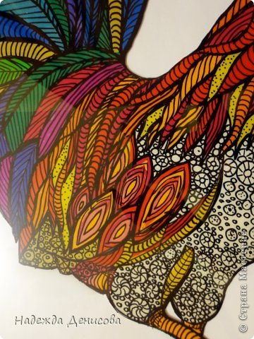 Картина панно рисунок Мастер-класс Аппликация из пластилина + обратная Красивая птица Пластилин Стекло фото 27