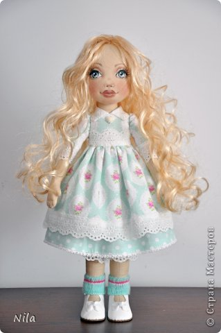 Текстильная кукла Белла фото 4