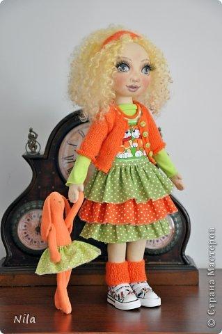 Текстильная кукла Златка фото 3