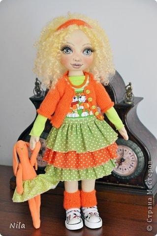 Текстильная кукла Златка фото 2