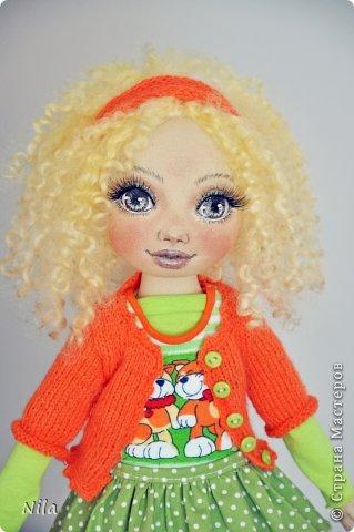 Текстильная кукла Златка фото 1