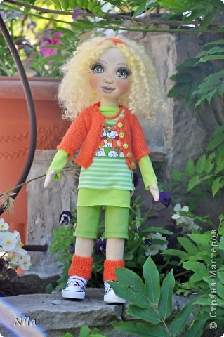 Текстильная кукла Златка фото 5