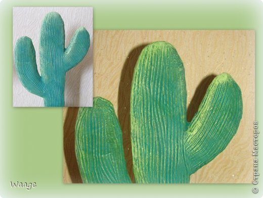 Предлагаю вам сделать вот такой кактус для временного хранения бижутерии. фото 12